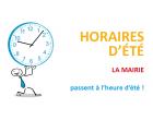 HORAIRES D'ETE DE LA MAIRIE